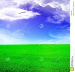 Summer LandscapeBlue Sunny Sky Stock PhotosImage: 9632503 580
