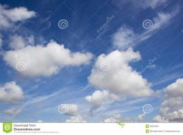 summer blue sky background image with white fluffy and wispy clouds 1897
