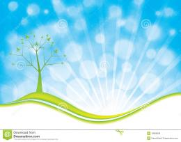 Summer Natural Background With Tree And Blue Sky Royalty Free Stock 140