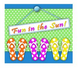 Fun in the Sun Gift Basket from Darling Doodles 1328