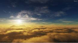 In Morning Sun Rise And Clouds Closeup Wallpaper 1088