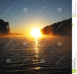 Early foggy morningSunrise on the lakePhotographed from a boat 1698