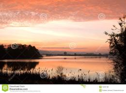 Sunrise On The Lake Royalty Free Stock PhotosImage: 19634188 997