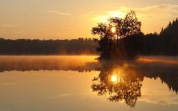 Sunrise over the lake wallpaper #1171 1214
