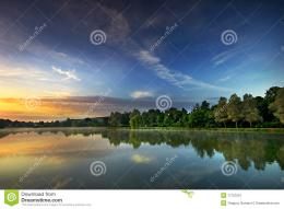 Sunrise On The Lake Stock ImageImage: 17721521 1016