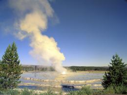Great Fountain Geyser at Sunset, Yellowstone National Park, Wyoming 1196