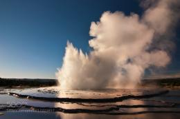 Great Fountain Geyser in Yellowstone National Park about a half hour 468