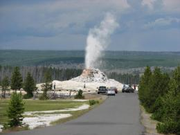 great fountain geyser gives us a blast by bwana brown geysers hot 1851
