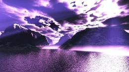 Purple sunset clouds reflection mountains 1600x900 1696