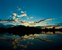 water sunset clouds skyscapes reflections sky cloud reflection Normal 1479