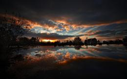 Clouds Nature Dark Sunset Night Lakes Reflections Hdr Photography 1536