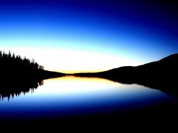 Peace forest moutains lake sunset nature:High Contrast 594