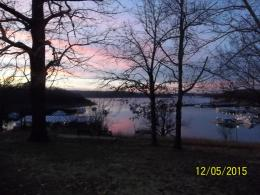 Sunset after the parade over beautiful Bull Shoals Lake! 1711