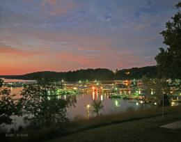 Sunset shot of Bull Shoals Dock at sunset provided by Charlie Crosslin 1044