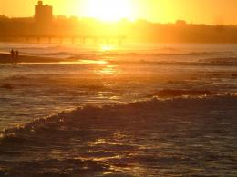 PanoramioPhoto of Sunset over Hobie Beach Pier 1798