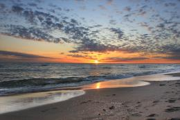Sunset over the beach in the resort of Sabaudia, Italy wallpapers and 1615