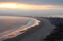 Description Foggy sunset over Stinson Beach jpg 1797