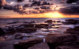 File Name : 32250 sunset over the rocky beach 1280x800 beach wallpaper 714