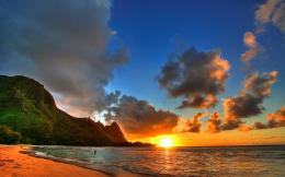 Wallpaper beach, ocean, sunset, landscape wallpapers landscapes 521
