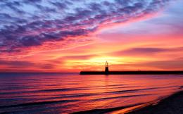 landscape sea sunset beauty coast beach water sky lighthouse sand 1342