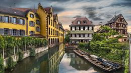 town village architecture houses buildings hdr canal waterway water 597