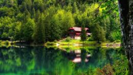 Download House on the lake paradise HDR wallpaper in Nature wallpapers 1324