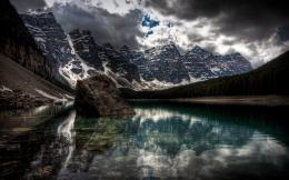 water mountains nature winter snow lakes HDR photography wallpaper 705