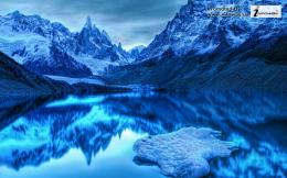 water ice mountains landscapes nature winter snow lakes hdr 1544