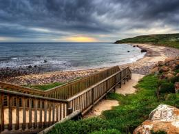 Download Wooden walkway to the beach Hdr wallpaper in Nature 591