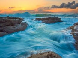 Download Blue tide and waves wallpaper in Nature wallpapers with all 1160