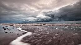 Tide Coming Under Stormy Skies Beach Waves hd wallpaper #1185489 944