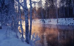 winter, landscape, nature, wallpaper, lake, moon, cartoons, wolves 352
