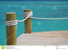 Tropical Pier Stock PhotographyImage: 1995192 272