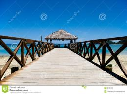 Pier On A Tropical Beach Stock PhotographyImage: 8540372 1438