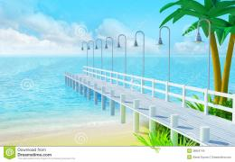 Tropical Summer Pier Royalty Free Stock PhotoImage: 28954745 309