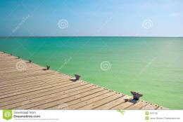 Tropical Pier Stock PhotographyImage: 3437162 507