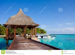 Pier On The Tropical Island Royalty Free Stock PhotoImage: 17798755 1557