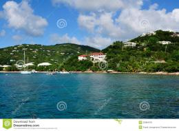 Tropical Coastline On StJohn, US Virgin Island Royalty Free Stock 1200