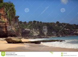 Wild tropical beach coastline landscapeBaliDreamland beach 283