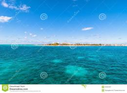 Tropical Sea And Isla Mujeres Coastline, Mexico Stock PhotoImage 347