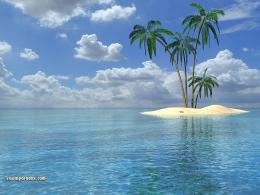Tropical island beach wallpaper 261