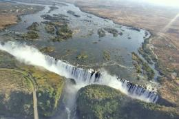Victoria Falls on Zambezi River 1354