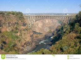 Victoria Falls Bridge Crossing Zambezi River Stock PhotosImage 1867