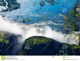 Zambezi River And Victoria Falls Stock PhotosImage: 13139383 1012