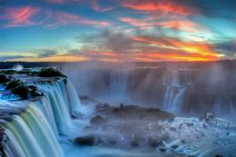 Sunset at Iguazu Falls, from Brazil 143