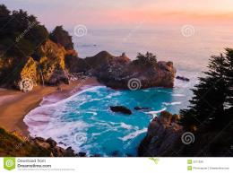 Waterfall At Sunset Royalty Free Stock ImageImage: 5277636 169