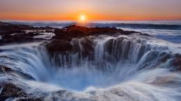 Oregon Waterfall Hole At Sunset desktop wallpaper | WallpaperPixel 289