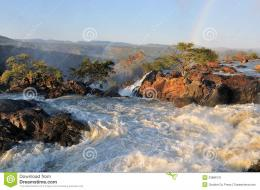 Sunset At The Ruacana Waterfall, Namibia Stock ImageImage: 23886131 721