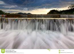 Waterfall At Sunset In Borneo Royalty Free Stock PhotosImage 1810