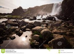Waterfall At Sunset With Royalty Free Stock ImageImage: 31294626 1382